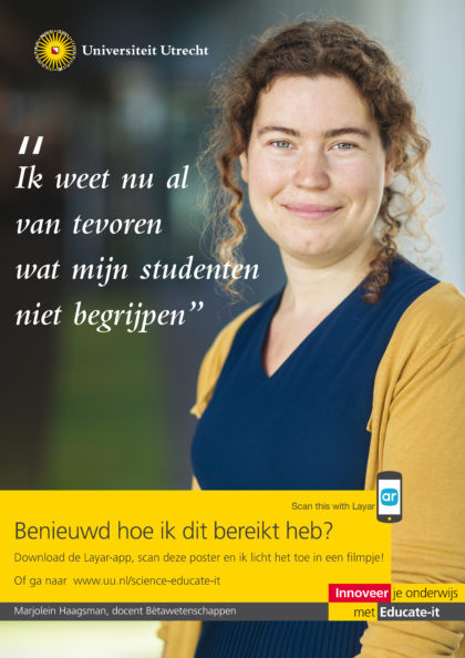 Educate-it campagne poster, verrijkt met Layar.